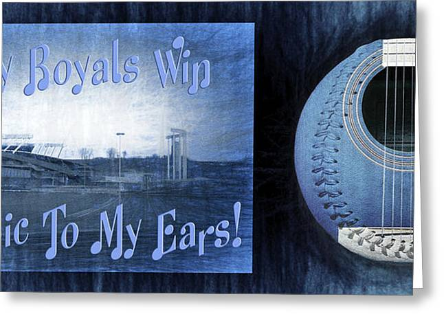 Royal Art Mixed Media Greeting Cards - Every Royals Win Is Music To My Ears Greeting Card by Andee Design
