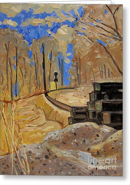 Early Spring Paintings Greeting Cards - Every Turn Greeting Card by Charlie Spear
