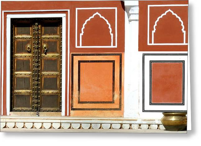 Brass Pot Greeting Cards - Every wall is a door.. Greeting Card by A Rey