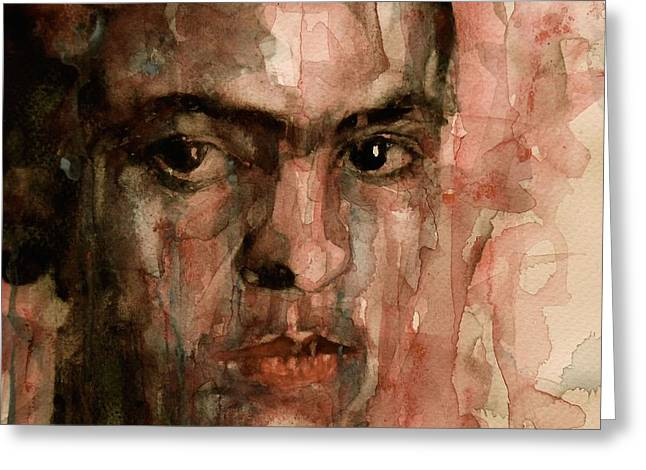 Self-portrait Greeting Cards - Everybody Hurts Greeting Card by Paul Lovering