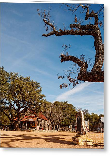 Live Music Greeting Cards - Everybody is somebody in Luckenbach - Texas Hill Country Greeting Card by Silvio Ligutti