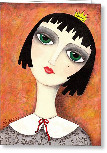 Gray Hair Greeting Cards - Everybody Wants to be Queen Greeting Card by Joann Loftus