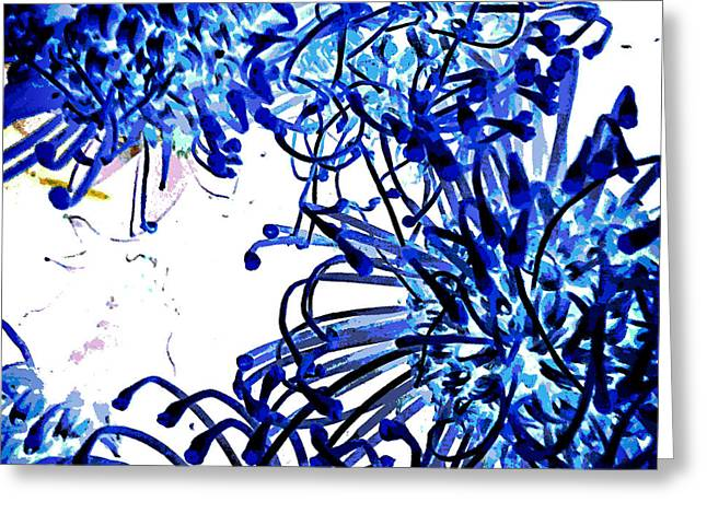Everyday Abstract 18 Greeting Card by Nancy E Stein