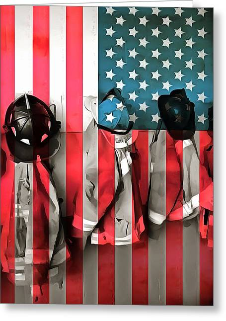 Serve Mixed Media Greeting Cards - Everyday Heroes Greeting Card by Dan Sproul
