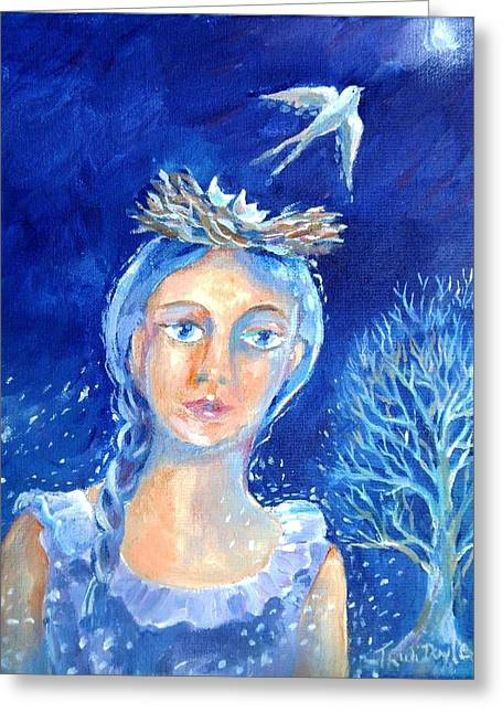 Separation Paintings Greeting Cards - Everyone Goes Away in the End Greeting Card by Trudi Doyle