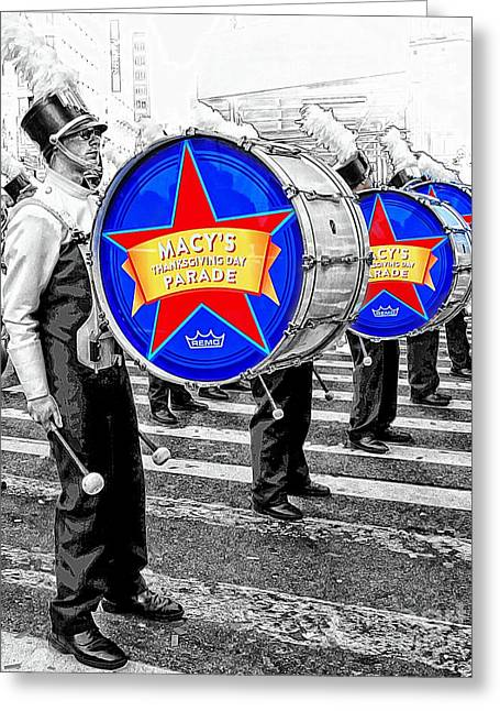 Marching Band Greeting Cards - Everyone Loves a Parade Greeting Card by Lilliana Mendez