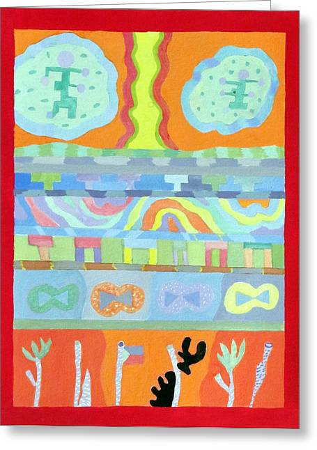 Gouache Abstract Greeting Cards - Everything everywhere #1 Greeting Card by Marcia Cary