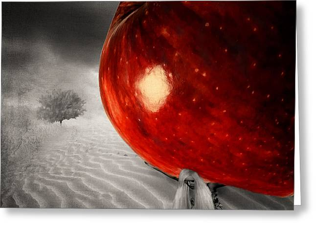Sacred Digital Art Greeting Cards - Eves Burden Greeting Card by Lourry Legarde