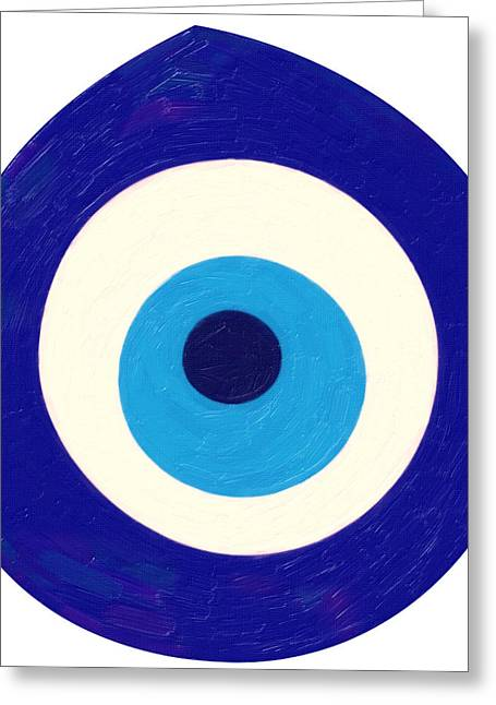 Evil Eyes Greeting Cards - Evil Eye Greeting Card by Celestial Images