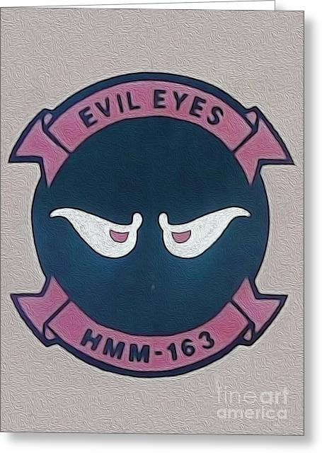 Evil Eyes Greeting Card by Gregory Dyer