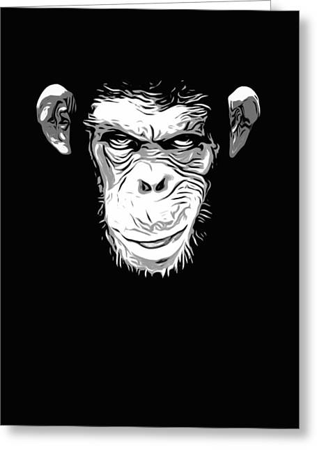 Skull Digital Art Greeting Cards - Evil Monkey Greeting Card by Nicklas Gustafsson
