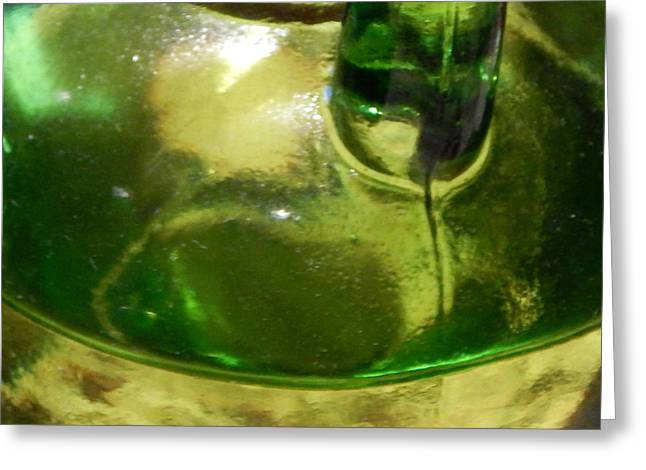 Cruet Greeting Cards - EVO in Green Glass Greeting Card by Terry Cobb