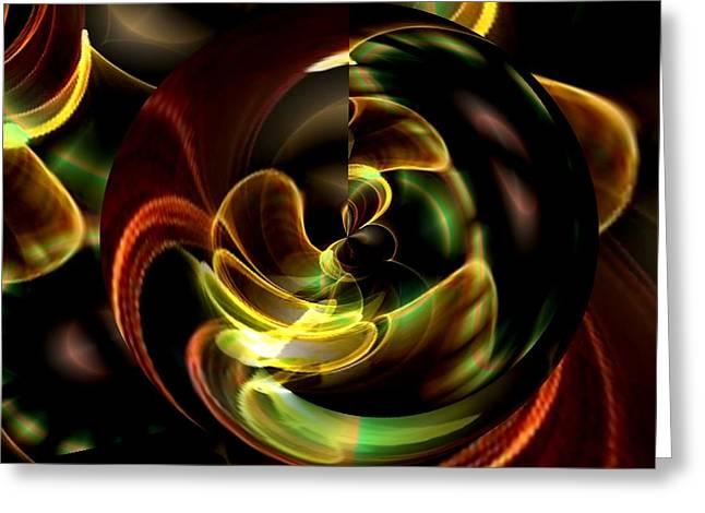 Maria Urso Digital Art Greeting Cards - Evolve Greeting Card by Maria Urso