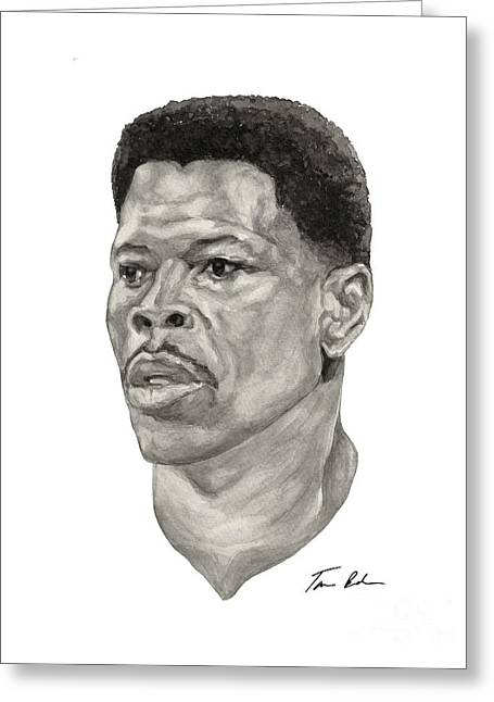 Knicks Greeting Cards - Ewing Greeting Card by Tamir Barkan