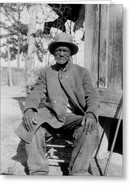 Slaves Greeting Cards - Ex-Slave Wes Brady - Texas 1937 Greeting Card by Mountain Dreams