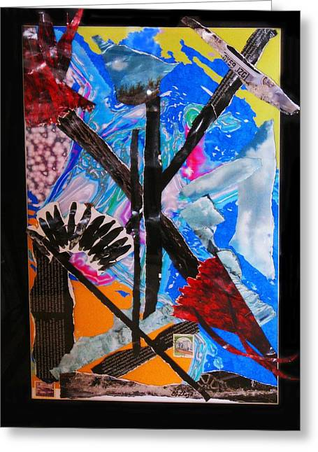 Camelot Mixed Media Greeting Cards - Excaliber Greeting Card by Barbara Jean Lloyd