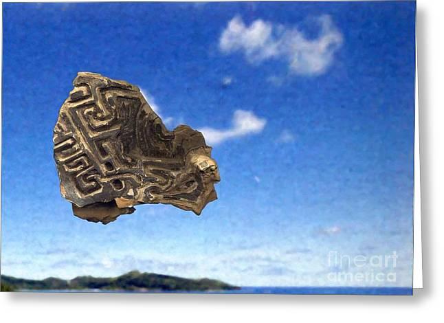 Metaphysics Sculptures Greeting Cards - Excavation Greeting Card by Ari Nunes