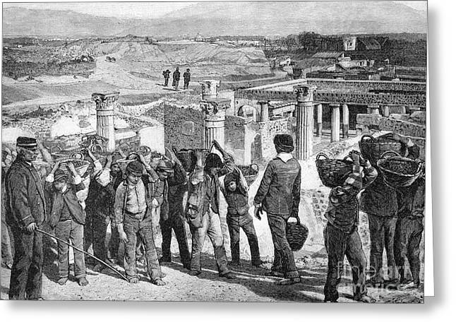 European Artwork Greeting Cards - Excavations At Pompeii, 1890s Greeting Card by Bildagentur-online