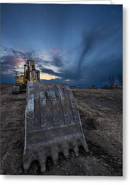 Www Greeting Cards - Excavator 2 Greeting Card by Aaron J Groen