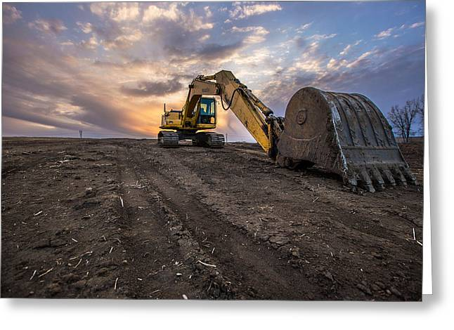 Excavator Greeting Cards - Excavator Greeting Card by Aaron J Groen
