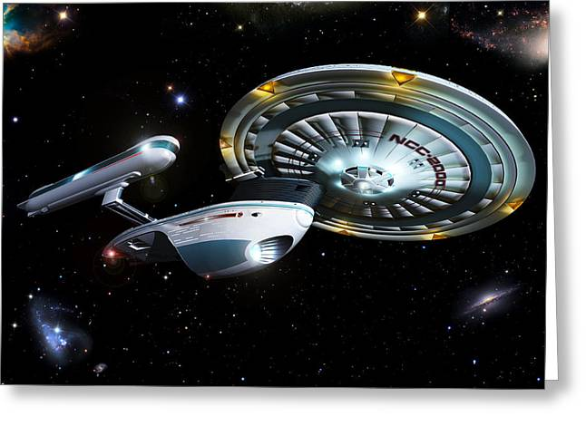 Enterprise Digital Art Greeting Cards - Excelsior Greeting Card by Joseph Soiza