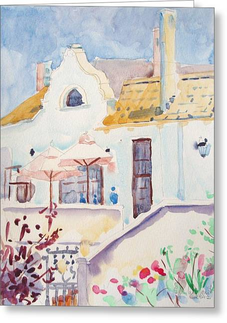House With Gate Greeting Cards - Excelsior Manor Robertson Greeting Card by Elinor Fletcher