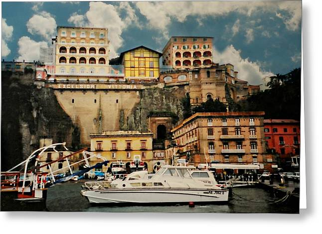 Southern Italy Greeting Cards - Excelsior Vittoria Greeting Card by Diana Angstadt