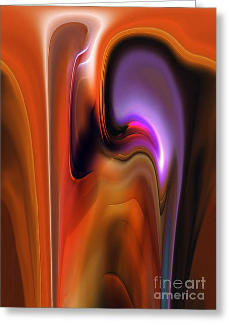 Talking Digital Art Greeting Cards - Exchange Greeting Card by Christian Simonian