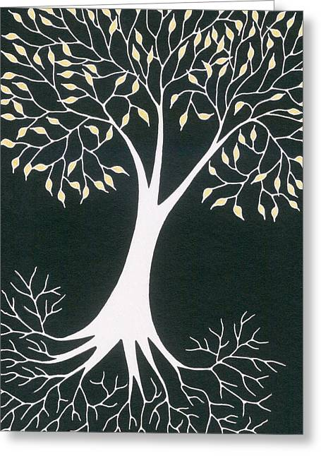 Tree Roots Drawings Greeting Cards - Excitement I V Greeting Card by Chris Bishop