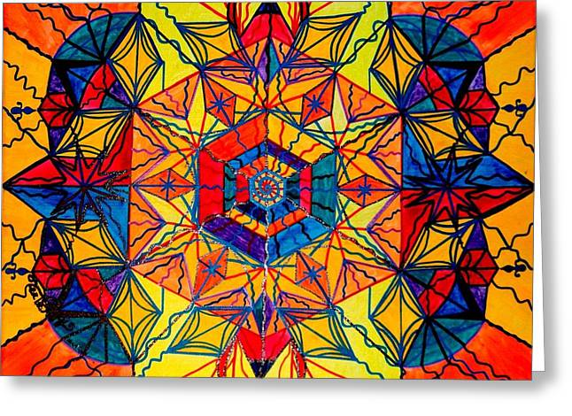 Recently Sold -  - Geometric Image Greeting Cards - Excitement Greeting Card by Teal Eye  Print Store