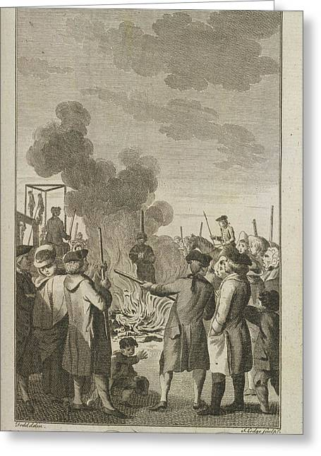 Execution By Burning Greeting Card by British Library