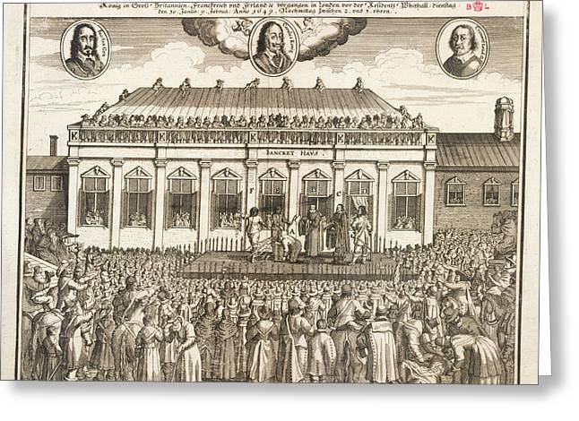 Execution Of Charles I Greeting Card by British Library