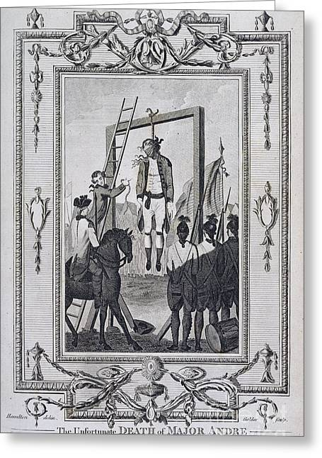 American Independance Photographs Greeting Cards - Execution Of Major Andre Greeting Card by British Library