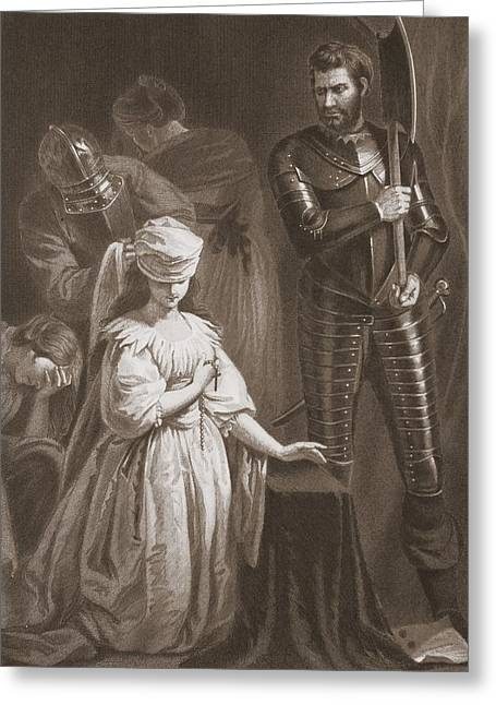 Martyr Drawings Greeting Cards - Execution Of Mary Queen Of Scots Greeting Card by John Opie