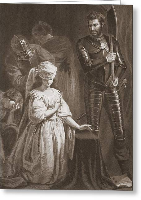 Execution Of Mary Queen Of Scots Greeting Card by John Opie
