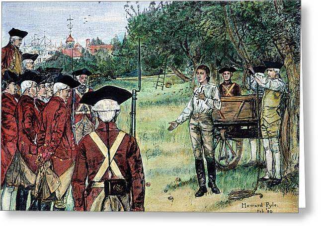 Bayonet Greeting Cards - Execution Of Nathan Hale Greeting Card by Granger