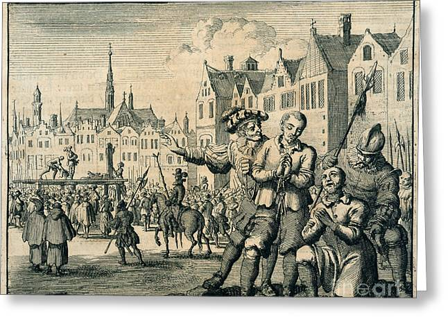 Het Greeting Cards - Execution Scene Greeting Card by British Library