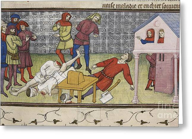 Beheading Greeting Cards - Executions At Paris Greeting Card by British Library