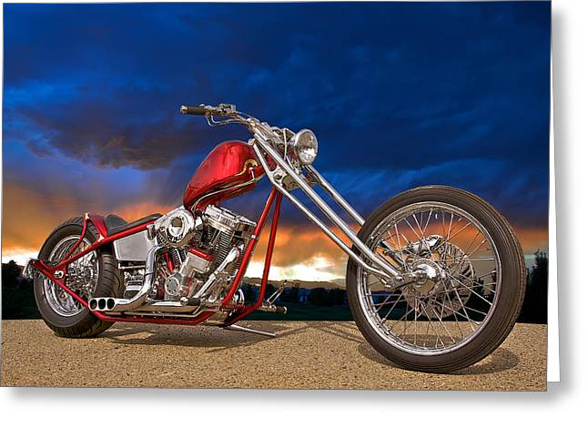 Classic Saddle Greeting Cards - Executive Chopper 8 Greeting Card by Dave Koontz