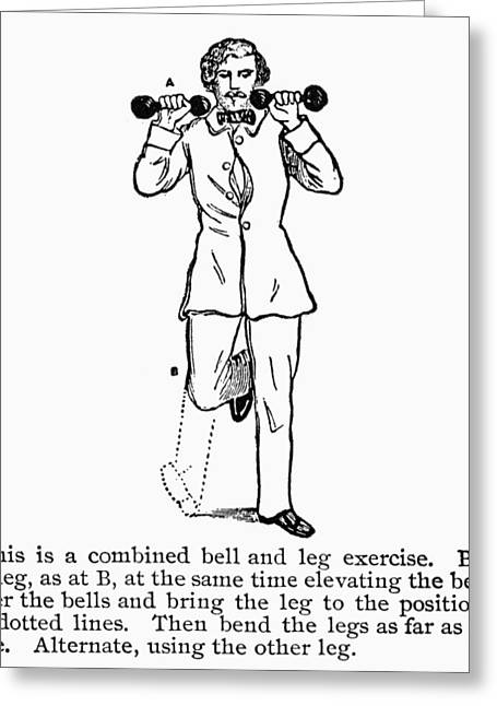 Manual Greeting Cards - EXERCISE, 19th CENTURY Greeting Card by Granger