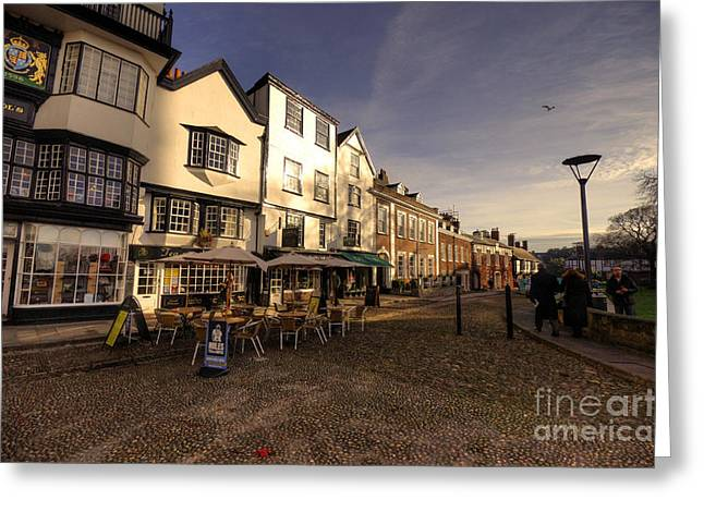 Exeter Greeting Cards - Exeter Coffee Shops  Greeting Card by Rob Hawkins