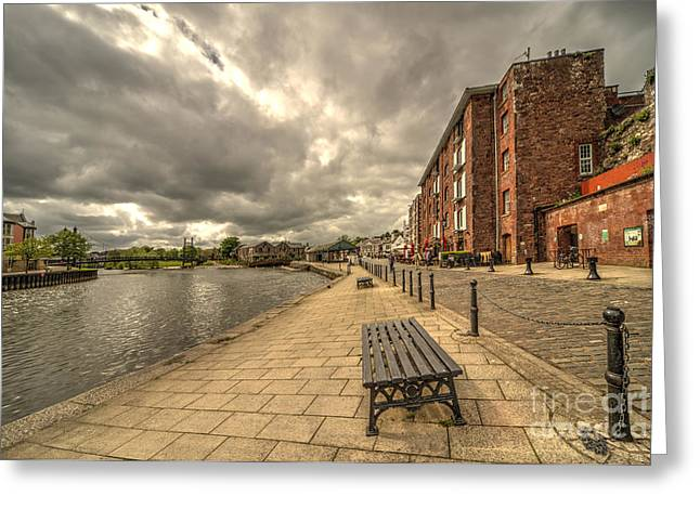 Exeter Greeting Cards - Exeter Quay  Greeting Card by Rob Hawkins