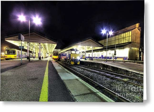 Exeter Greeting Cards - Exeter St Davids by Night  Greeting Card by Rob Hawkins