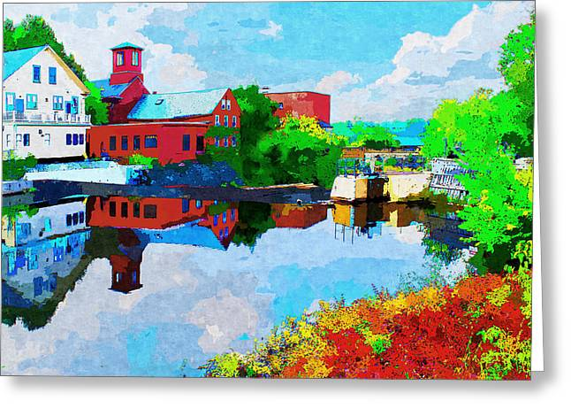 Exeter Greeting Cards - Exeter Watercolor Greeting Card by Rick Mosher