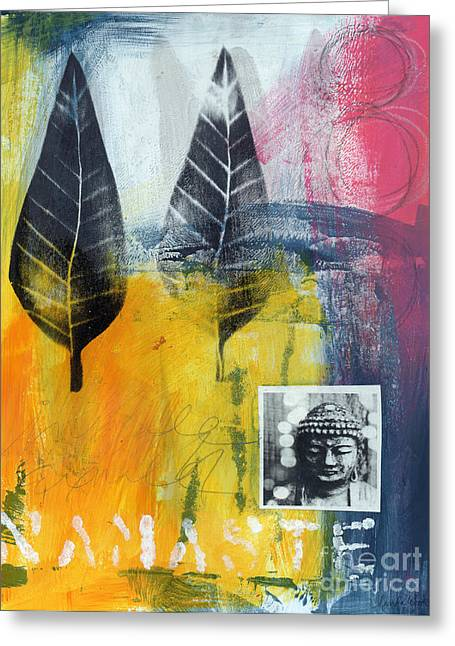 Namaste Greeting Cards - Exhale Greeting Card by Linda Woods