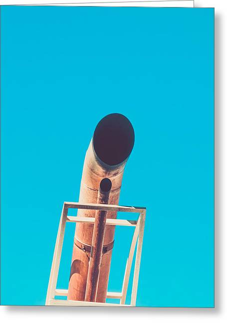 Filter Art Greeting Cards - Exhaust Pipe Greeting Card by Wim Lanclus