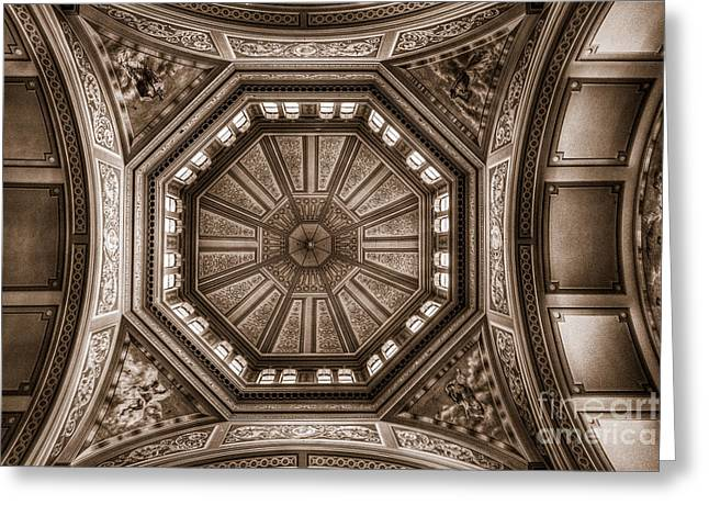 Inauguration Greeting Cards - Exhibition Ceiling Greeting Card by Ray Warren