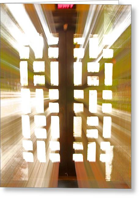 Abstract Movement Greeting Cards - Exit Doors Greeting Card by Stuart Litoff