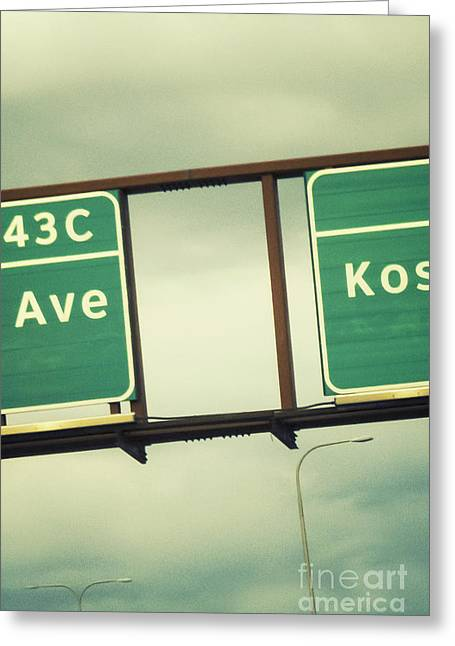 Directional Signage. Greeting Cards - Exits Greeting Card by Margie Hurwich