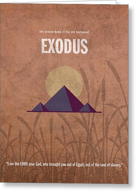Exodus Greeting Cards - Exodus Books of the Bible Series Old Testament Minimal Poster Art Number 2 Greeting Card by Design Turnpike